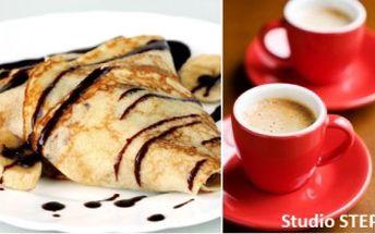 95 Kč za 2 výtečné FRANCOUZSKÉ PALAČINKY dle vašeho výběru + 2 lahodné kávy nebo kvalitní čaje!
