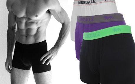 DVOJE pánské BOXERKY! Pořiďte si 2x sexy boxerky Londsdale v bílé, černé nebo modré barvě!