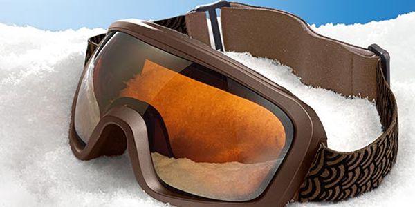 Stylové lyžařské a snowboardové brýle Tchibo. 100% ochrana proti UV záření s protizamlžovácím systémem.