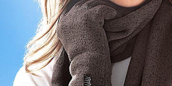 Rukavice Tchibo z pleteného fleecu. Kombinace pleteniny a fleecu neobyčejně dobře udržuje teplo.