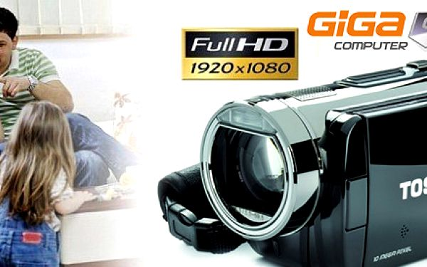 FULL HD digitálna videokamera TOSHIBA Camileo X100 s dotykovým displejom