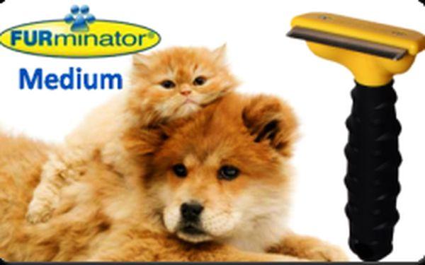 Profesionálny hrebeň FURminator MEDIUM pre psov a mačky len za 9,90€ vrátane poštovného! Doprajte svojim maznáčikom profesionálnu starostlivosť o ich srsť so zľavou 70%!