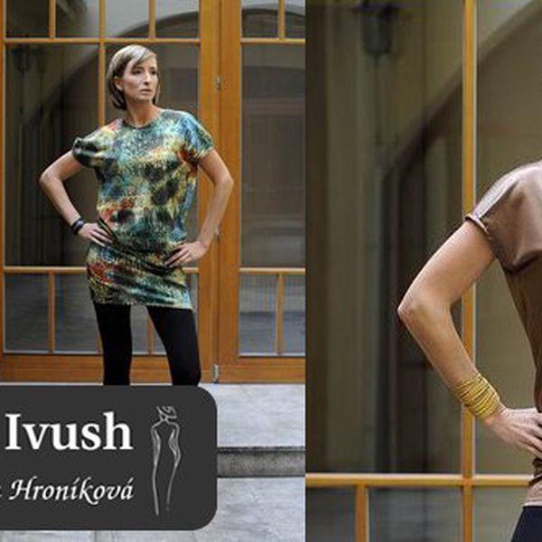 Buďte za hvězdu! Krásné úpletové ŠATY nebo TOP z módního salonu IVUSH - salonu módní návrhářky Ivy Hroníkové - z kolekce IDEALIST - VÝBĚR ZE 3 DRUHŮ se slevou 63%!