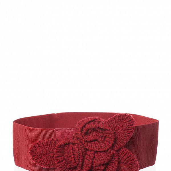 Červený pásek s květinou Poete