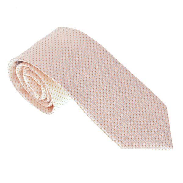 Luxusní světle oranžová kravata s puntíky Castellet Barcelona