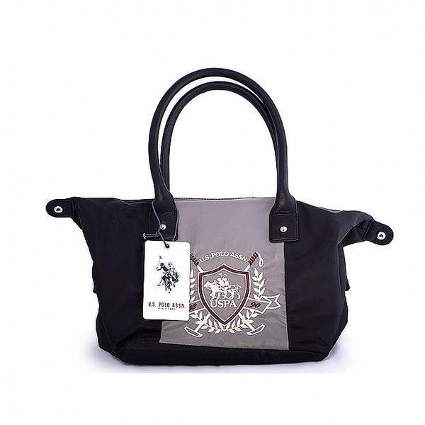 Dámská černo-šedá nylonová taška U.S. Polo