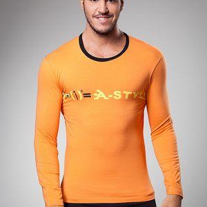 Pánské oranžové tričko A-Style s potiskem