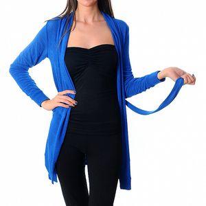 Dámský zářivě modrý kardigan Ribelli