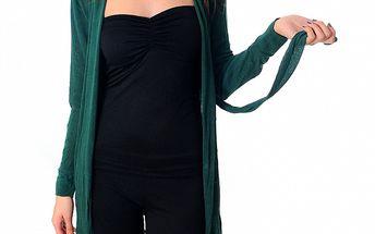 Dámský tmavě zelený kardigan Ribelli
