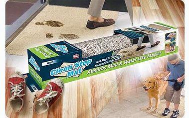 Praktický pomocník do každé domácnosti, rohožka Clean step mat, díky které všechny nečistoty zůstanou za vašimi dveřmi za pouhých 349 Kč včetně dopravy!
