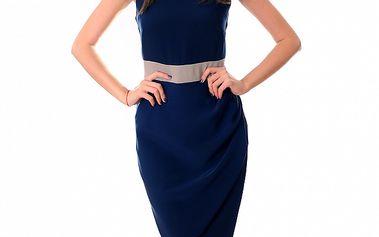 Dámské modro-béžové šaty Ribelli