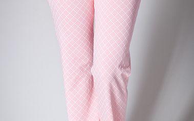Dámské růžové pyžamové kalhoty A-Style s potiskem