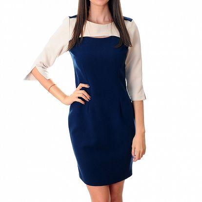 Dámské modro-bílé šaty Ribelli