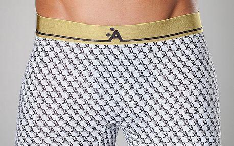 Pánské bílé boxerky A-Style s potiskem