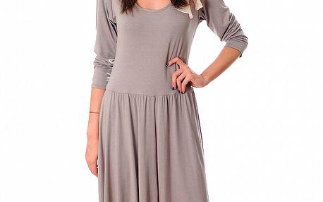 Dámské béžové šaty Ribelli s mašlí