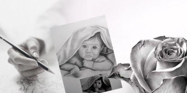 KRESBA tužkou z Vaší fotografie ve formátu A4 za akčních 699 Kč! Darujte jedinečný dárek svým blízkým. Nakreslíme děti, Vašeho pejska, kočičku či auto, domek apod.