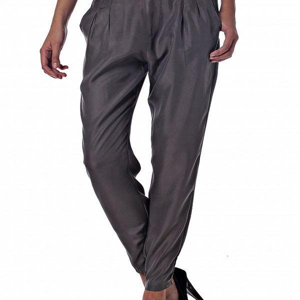 Dámské šedé hedvábné kalhoty Miss Sixty