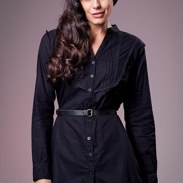 Dámská černá košile Ada Gatti s páskem