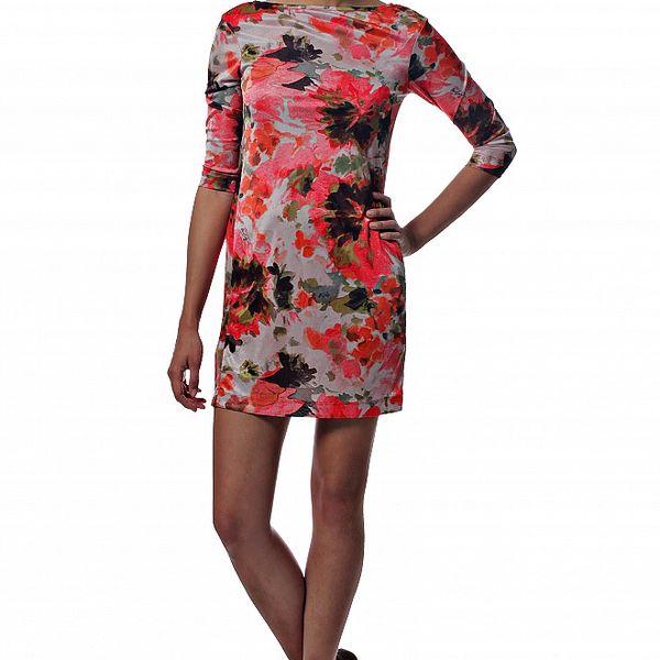 Dámské červené mini šaty Miss Sixty s květinovým potiskem