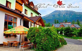 2 noci v obľúbenom hoteli Villa Siesta*** v Novom Smokovci vo dvojici s raňajkami, 3-chodovými večerami a wellness len za 100 €! Ideálna ponuka aj pre lyžiarov!