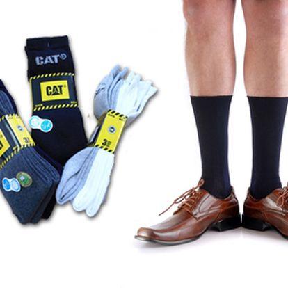 Caterpillar ponožky z česanej bavlny s kontrolou vlhkosti - vhodné na bežné nosenie aj ako pracovné! 3ks len za 6 €!