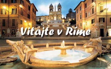 Viva Roma! 4-dňový pobyt pre 2 osoby so záujmom o antický svet, umenie a architektúru, ale aj módu, kultúru, moderné umenie či taliansky futbal so super zľavou 52%!