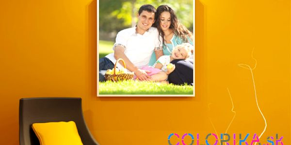 Fotoplátno na drevenom ráme, základné úpravy fotografie v cene