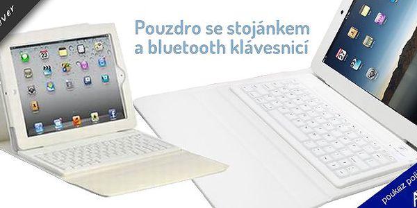Pouzdro na iPad + bluetooth klávesnice se slevou 60%!!! Stylové a skvělé pouzdro z imitace kůže v odstínu slonové kosti, s integrovanou klávesnicí pro pohodlnější psaní.