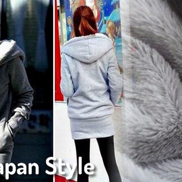 Módní flaušová mikina - Japan Style! Mikina v univerzální velikosti, se kterou uděláte radost každé parádnici!