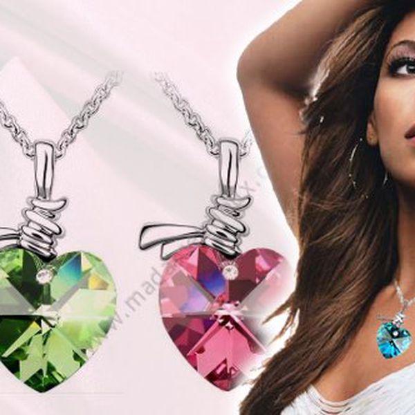 Řetízek se srdcem osazeným kamenem Swarovski Elements za luxusní cenu 149 Kč!