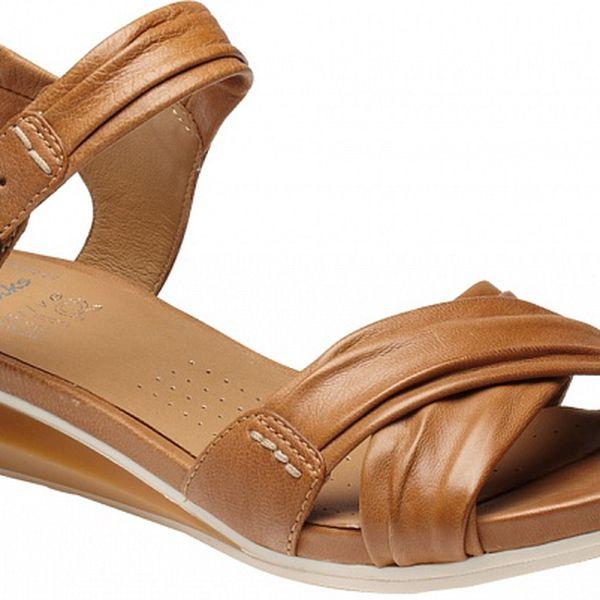 Dámské hnědé sandále Clarks s technologií Active Air