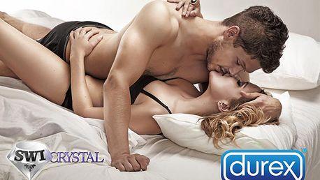 Len 14,90 € za 50 kondómov Durex. Bezpečné trávenie dlhých zimných večerov so zľavou 50%.
