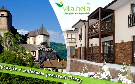 Villa Helia*** - 3 dňový romantický pobyt pre 2 osoby. Grátis - Orava pass s množstvom zliav.
