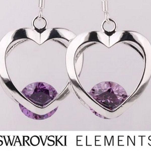 Náušnice v tvare Srdiečka od Swarovski Elements so zľavou 54%!!!