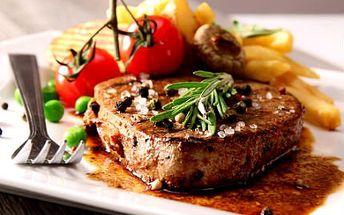 2x steak z pravé svíčkové! Vyrazte do stylové restaurace Arigone a gurmánské hody vás neminou!