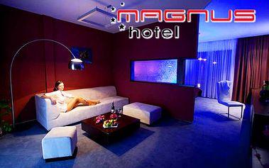 2-dňový pobyt pre 2 osoby s polpenziou v 4* hoteli Magnus v Trenčíne! Neobmedzený wellness, 3-chodová večera pri sviečkach, raňajky na izbu, 2x30 min. masáž a fľaša sektu!