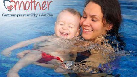 Kurzy plávania mamičiek s bábätkami pre začiatočníkov a mierne pokročilých len za 82 €! Certifikované pomôcky, dohľad inštruktoriek, krásne čisté a hygienické prostredie!