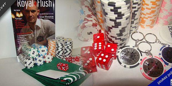 Kvalitní pokerové žetony nesmí chybět ve výbavě pořádného chlapa. Sada 300 ks a k tomu stylový časopis Royal Flush za skvělých 359 Kč!!!
