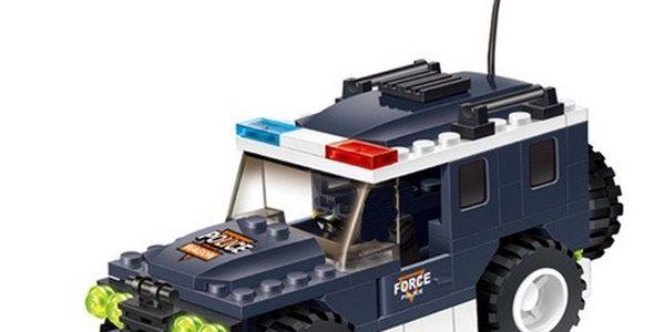 WANGE stavebnice - Policejní dodávka pro děti