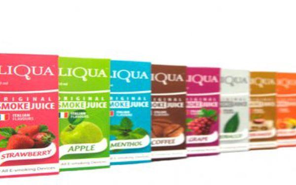 Šťavnaté a kvalitní náplně LIQUA do všech typů e-cigaret.1Ks 30 ml kvalitních e-liquidů LIQUA za 179 kč!