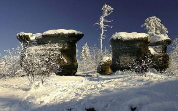 3 nebo 6 dní u Adršpašských skal od 1990 Kč PRO DVA s polopenzí a skipasy!
