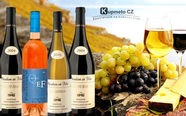 6 lahví luxusního francouzského vína