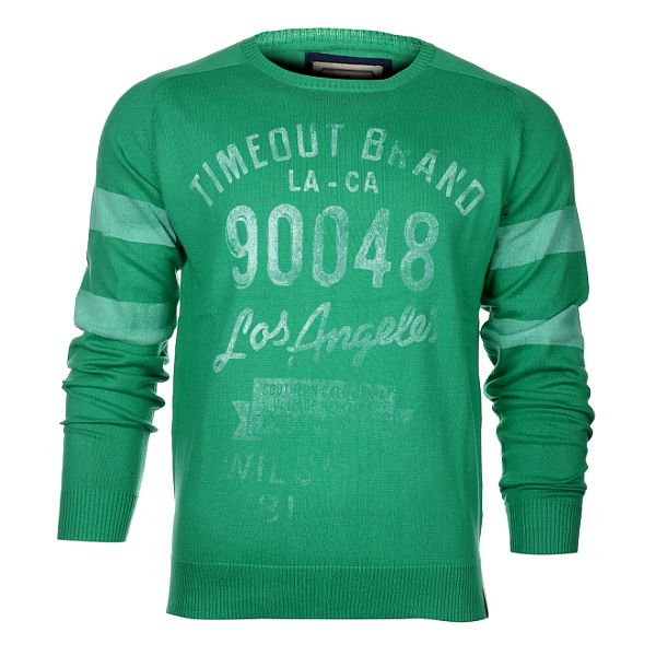 Pánský zelený svetr Timeout s potiskem
