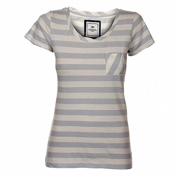 Dámské krémovo-šedé proužkované tričko Timeout