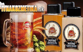 Originálna darčeková sada pivnej kozmetiky Saela: pivný šampón, kondicionér a sprchovací gél pre nádherné, zdravé, žiarivo lesklé vlasy a jemnú pokožku len za 11,10€!