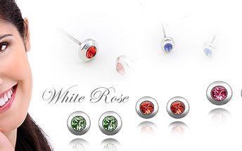 Náušnice s krystaly Swarovski Crystallized