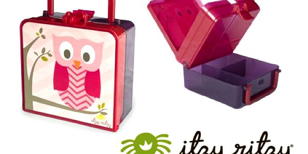 Dětský svačinový box – 3 typy, 3 barevné varianty, dvě patra, dolní část s přihrádkami