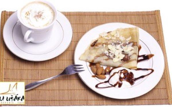 Jen 122 Kč za 2 výborné kávy značky Coffee Source a 2 sladké FRANCOUZSKÉ CREPES dle vašeho výběru!