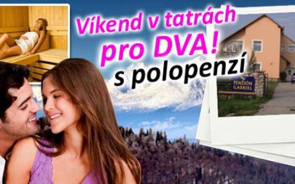 Wellness pobyt ve Vysokých Tatrách s 50% slevou! 3denní pobyt pro 2 osoby s polopenzí, pouze za 1749 Kč. Báječná dovolená s platností až do června 2013!