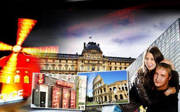 PAŘÍŽ, ŘÍM nebo AMSTERDAM na 4 DNY včetně ubytování se snídaní, dopravou luxusním autobusem a prohlídkou města s průvodcem jen za 3275 Kč! Termíny i pro rok 2013!